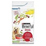 Purina Beneful Original Pienso seco para Perros con Vacuno y verdura de jardín, 1 Unidad (1 x 12 kg)