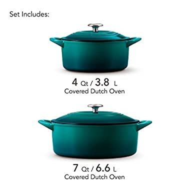 Tramontina Enameled Cast Iron Qt Covered Round Dutch Oven (7 qt. and 4 qt.)