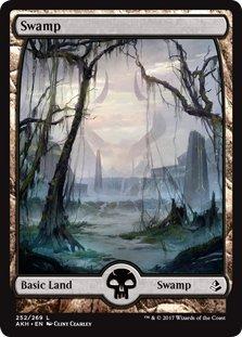 Wizards of the Coast Swamp (Full Art) - Amonkhet