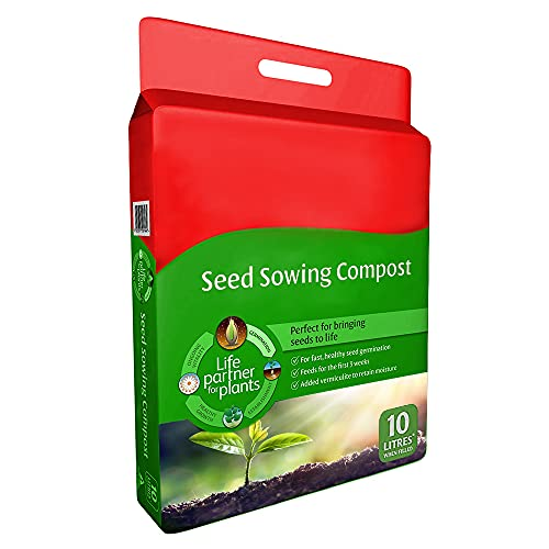 CUQOO Seed Sowing Compost Soil Bag In 10 Litres - Seedling Compost Bag - Nutrient Balanced Seed Compost Mix for Potting, Growing Garden, Outdoor & Indoor Seed Plants