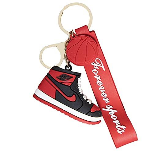 Zapatillas de deporte Llavero 3d Zapatos Llavero Regalo de recuerdo, baloncesto en forma de zapato colgante llavero portátil colgante llavero accesorio bolso accesorios encanto llavero decorativo #1