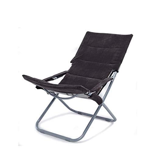Pliant, canapé, Chaise, Balcon, Bureau, Cour, Pied (Color : Black)