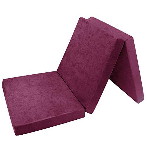Preisvergleich Produktbild Klappmatratze für Gästebett,  195 x 80 x 9 cm,  Violett