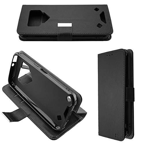 caseroxx Tasche für Blackview BV9800 / BV9800 Pro Bookstyle-Case in schwarz Cover Buch