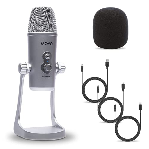Movo UM800 Desktop USB Microphone for Computer, iPhone or Android with Adjustable...