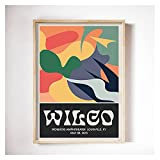 PEEKEON Wilco Gig Poster Klassische Wandkunst Vintage Bunte