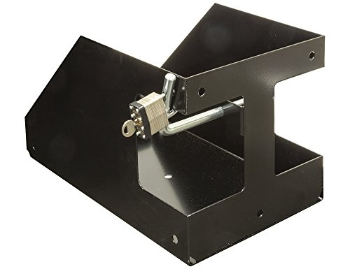 Buyers Products LT32 Locking Rack Gas Container Holder, Oversize, Black