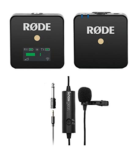 Rode Microphones Wireless Go Compact Transmitter/Receiver Wireless Solution with Knox Gear Clip-On Lavalier Microphone (2 Items)