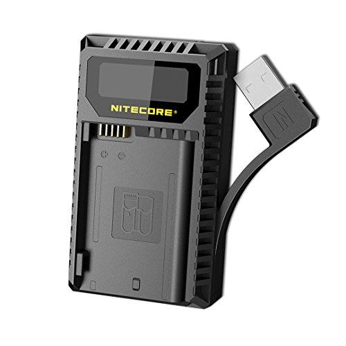 NITECORE UNK2 Dual Port USB Digital Camera Battery Charger for Nikon Batteries EN-EL15 with LumenTac Adapter