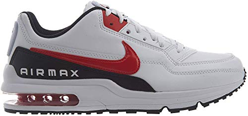 Nike Air Max Ltd 3, Chaussures de Trail Homme, Multicolore (White/University Red-Black 100), 42.5 EU