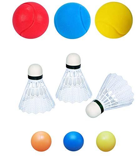 KSS 9 Teile Ersatzbälle / Federbälle / Beachbälle / Badminton / Softball / Tennis / Ersatzfederbälle / Bälle / Ball