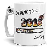 WM-Tasse 54, 74, 90, 2014-2018' - Fussball-Tasse - Passend zur Fussball-Weltmeisterschaft 2018 in Russland/Cup/Mug/Kaffeetasse - Qualität Made in Germany