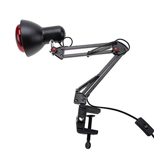 150W Rotlichtlampe Wärmelampe, Infrarot Heiz Therapielampe, Infrarotlampe zur Wärmedämmung, Körpermassage Schmerzlinderung Behandlungsgerät, zur Schmerzlinderung bei Rückenschmerzen(EU)