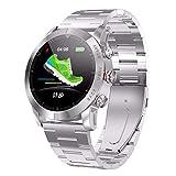 LRWEY Fitness Smart Watch, 1,3 Zoll IP68 wasserdichte Herzfrequenzmessung Kompass Sport Smartwatch für Android iOS