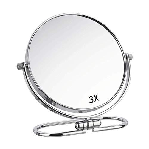 Rétroviseur intérieur compact 3X 1X double face maquillage Miroir grossissant - 6-8\