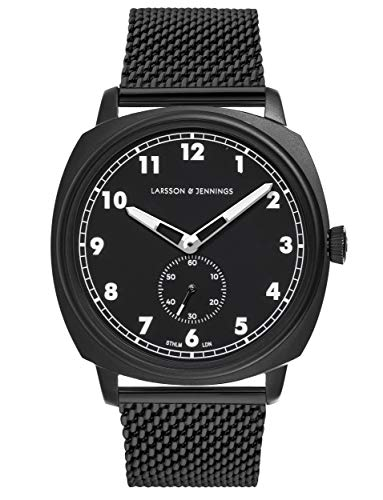 Larsson & Jennings Meridian Unisex Watch with 38mm Black dial and Black Stainless Steel strap ME38-CMBLK-HSA-Q-M-BB-O.