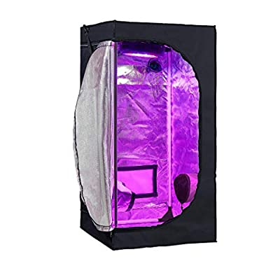 GreenHouser High Reflective Grow Tent Indoor Grow Room for Planting Fruit Flower Veg with Removable Water-Proof Floor Tray
