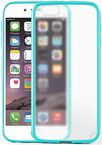 MoEx Cover Opaca [Trasparente] Compatibile con iPhone 6S / iPhone 6 | Bordi rialzati, Turchese