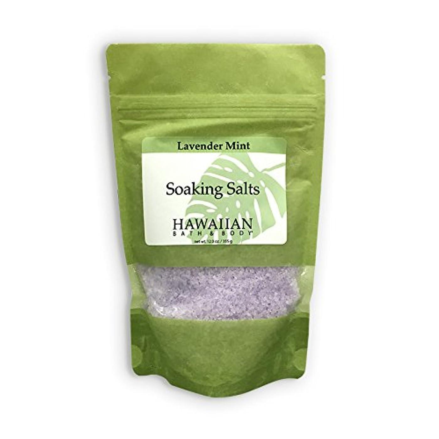 狂う救出お風呂を持っているハワイアンバス&ボディ ラベンダーミント?バスソルト ( Lavender Mint Bath Salt )