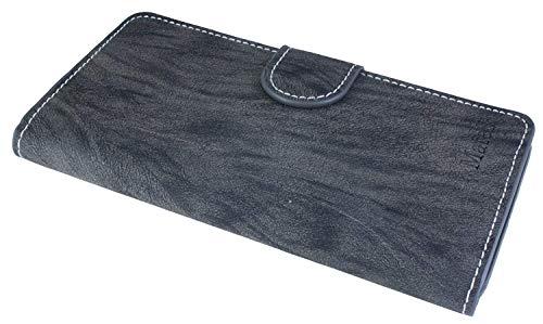 Huawei Ascend Mate S Buchtasche Hülle Case Tasche Wallet BookStyle mit STANDFUNKTION Anthrazit @ Energmix - 6