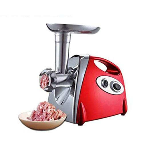 Vlees Blender, elektrische huishoudelijke Meat Groenten Gemalen Mixer Low Speed ​​Spiral Cutter Mixer Spiralizer Vegetable Slicer (Color : Red)