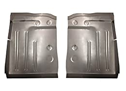 Made In The USA Non OEM Part Free Shipping Motor City Sheet Metal - Compatible With 1953 1954 Pontiac Chevy 150 & 210 Series, Bel Air, DeLuxe Front Floor Pans Pair