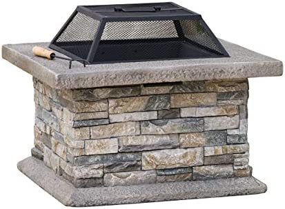 Christopher Knight Home Crestline Outdoor Fire Pit Natural Stone product image