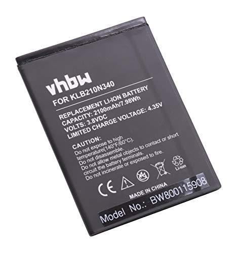vhbw Akku Ersatz für Konka KLB210N340 für Handy Smartphone Handy (2100mAh, 3,8V, Li-Ion)