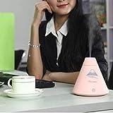 Mini humidificador de aire con forma de volcán portátil creativo USB difusor de niebla