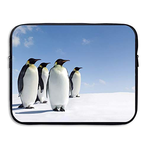 15 Inch Laptop Sleeve Water-Resistant Laptop Bags Ice Penguins Snow Briefcase Sleeve Case Bags