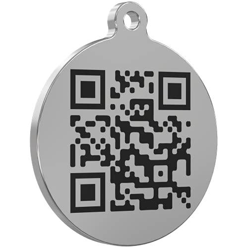 PetCare SmarTraqr+ Placa Chapa Inteligente Joya para Perros y Gatos de cualquier tamaño Pequeña y Ligera con acabado Premium y Triple Tecnología de Localización GPS sin baterías (ZPS) para collar