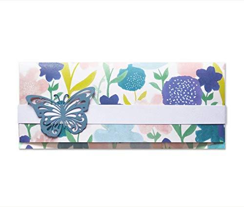 Tenedor de dinero - ceremonias - boda - sobre de bolsa de dinero (tamaño 22 x 9,5 cm) + tarjeta de felicitación - vacío por dentro, ideal para su mensaje personal - totalmente artesanal.