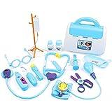 Liadance Niños Niños Médico De Cabecera Juguete Kit Médico Juguetes Kit De Niños Niños Médico De Cabecera Juguete Juguete Enfermera Kit Médico para Niños 15pcs Azul