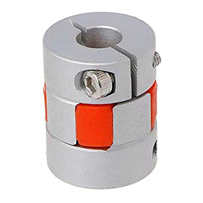 Flexible Shaft Coupling, SENRISE Motor Coupler, Aluminum Alloy Joint Connector Plum Coupling for DIY Encoder, 3D Printer, CNC Machine (D20mm x L25mm, 5mm to 5mm)