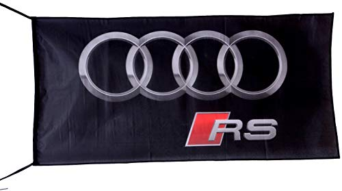 Cyn Flags Audi Flaggen-Banner RS 2.5x5ft 150 x 75 cm