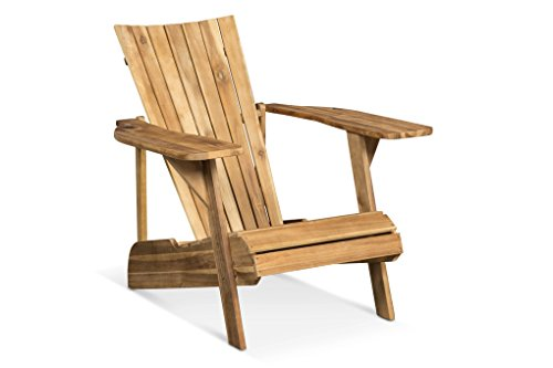 LANTERFANT – Adirondack Gartensessel Fred, Gartenstuhl, Lounge Sessel, Akazien Holz, Erhältlich in fünf Farben, Teakfarbe, Teak-Look