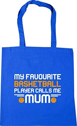 HippoWarehouse My favorite player calls me mum basketball Tote Shopping Gym Beach Bag 42cm x38cm, 10 litres