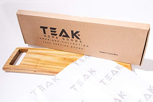 Teak Serving Board on Hard Wood - Beautiful Teak Tray Board made out of Teak Home Goods Food Grade - This Amazing Teak Serving Tray can be used for Cooking, Grilling, Gifting by Teak Home Goods