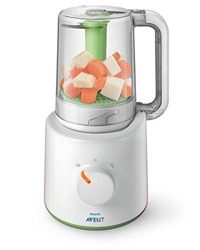 Philips Avent SCF870/20 - Procesador de alimentos para bebés 2 en 1, color blanco y verde