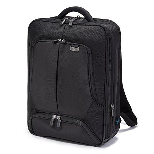 Dicota Backpack 15–17,3 Zoll PRO Rucksacktasche für Laptop, Computer und Tablet, Leichtgewichtige Laptoptasche, Schwarz