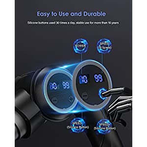 Massage Gun Deep Tissue, Electric Handheld Muscle Massager Fascia Gun for Back, Neck, Arms, Body with 6 Massage Heads 10 Speed Rechargeable 180 Degree Folding Legiral Le8 Percussion Massager