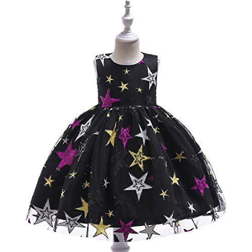 Yongmei Tanz-Outfit Kinder Tanz-Kostüm Catwalk Piano Kleid Stickerei Mesh Tutu Prinzessin Kleid Catwalk Performance Kleidung (Farbe: Schwarz, Größe: 150)