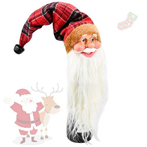 Demason Weinflasche Dekoration Weihnachten Wein Flasche Tasche Rotwein Beutel Flaschenabdeckung, Weihnachtskostüm und Weihnachtshut 44x9CM