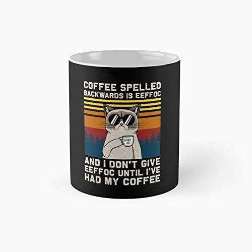 Coffee Spelled Backwards Is Eeffoc Cats Drink Classic Mug 11,15 Oz.