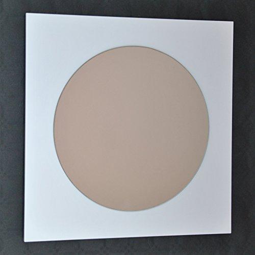 DECOHOGAR.SHOP Miroir Mural carré - Carré ondulé Moyen - 60 x 60 cm - Laqué Blanc