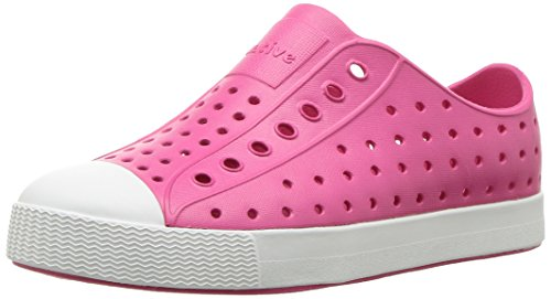 Native Shoes Girls' Jefferson Junior Water Shoe, Hollywood Pink/Shell White, 1 Medium US Little Kid