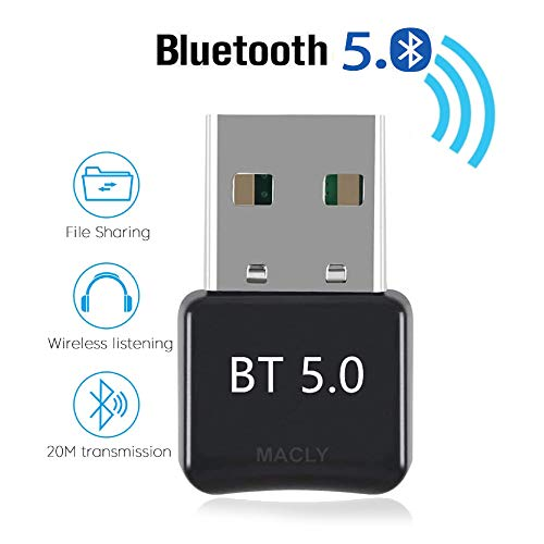 MACLY Bluetooth 5.0 USB Dongle Adapter, Bluetooth Transmitter Empfänger für Headset (Bluetooth 5.0)