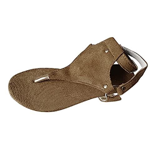 Sandalias para Mujer Sandalias de Chanclas Sandalias Planas de Diamantes de Imitación Bohemios Zapatos de Playa de Verano