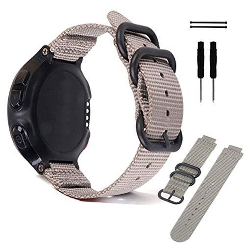Correa de reloj de nailon de liberación rápida de 15 a 22 mm, correa de nailon de repuesto para hombres y mujeres, perfecta para relojes regulares o inteligentes, gris