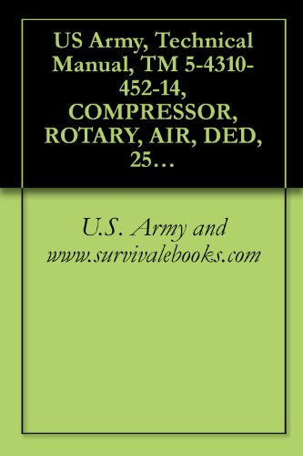 US Army, Technical Manual, TM 5-4310-452-14, COMPRESSOR, ROTARY, AIR, DED, 250 CFM 100 PSI TRAILER-MOUNTED, (NSN 4310-01-158-3262), COMPONENT OF PNEUMATIC ... manauals, special forces (English Edition)